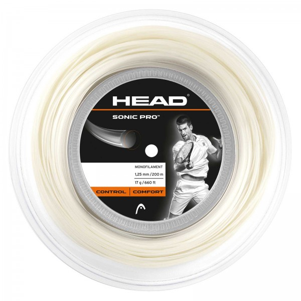 Head Sonic Pro Saitenrolle 200m - Weiß
