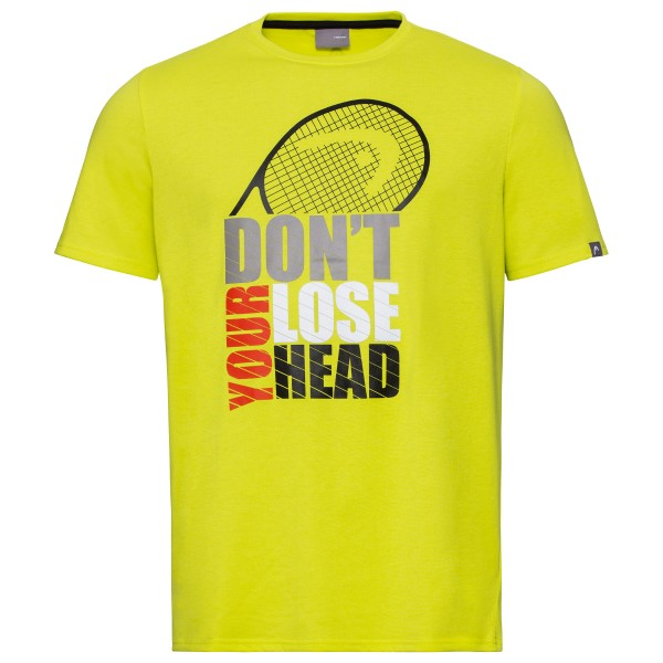 Head Return T-Shirt Herren gelb