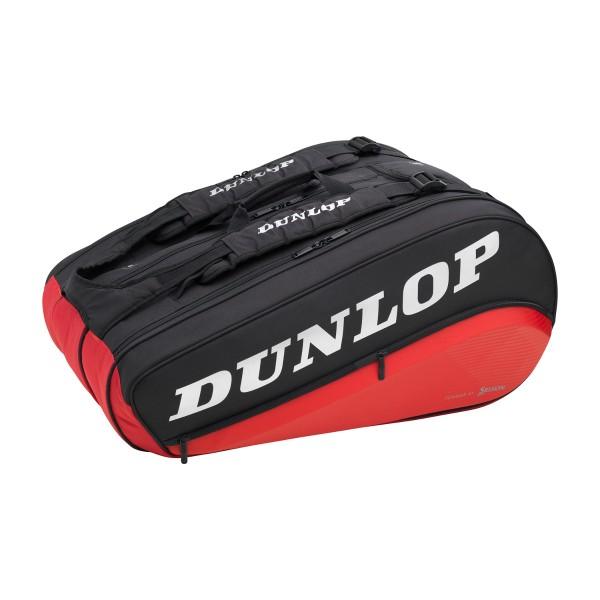 Tennistasche Dunlop Performance 8 Pack schwarz rot