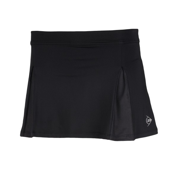 Dunlop Club Skirt Girls schwarz Tennisrock