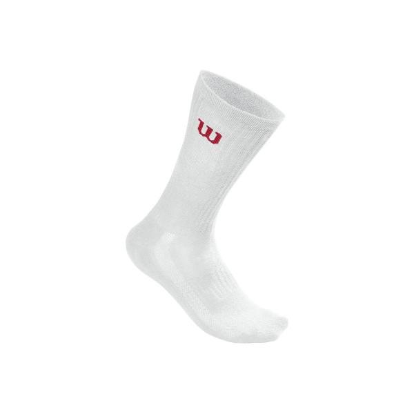 Wilson Herren Crew Sock Tennissocken 3er weiß