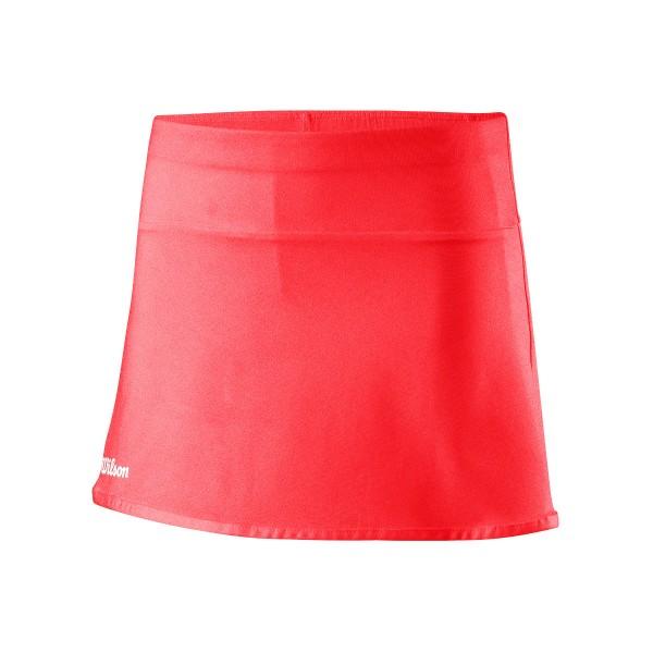 Wilson Team II 11 Skirt Mädchen Tennisrock coral
