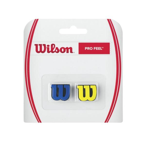 Wilson Pro Feel 2er Dämpfer blau/gelb