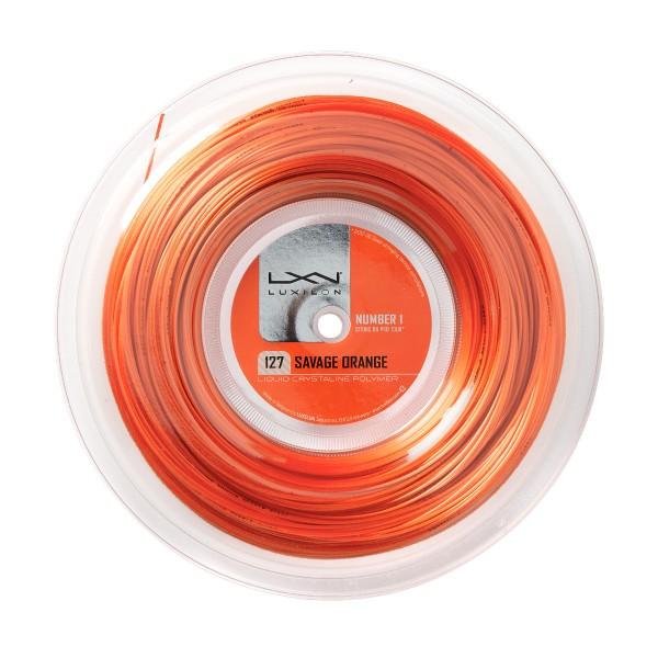 Luxilon Savage Orange 1.27 200m Saitenrolle
