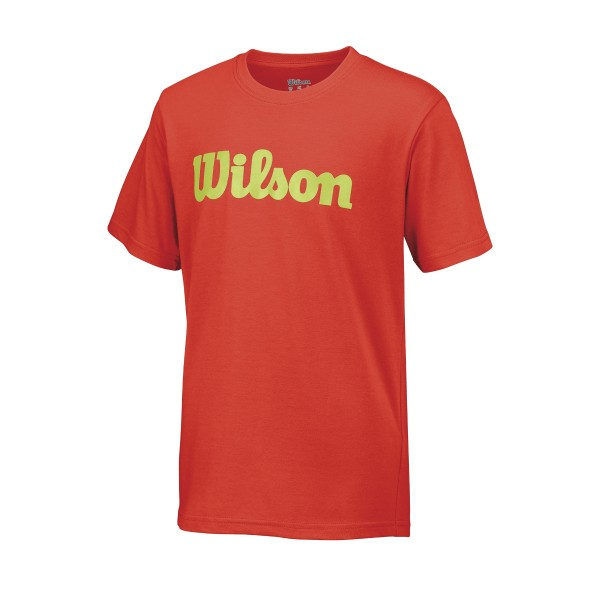 Wilson Script Cotton Tee Tennisshirt Boys orange