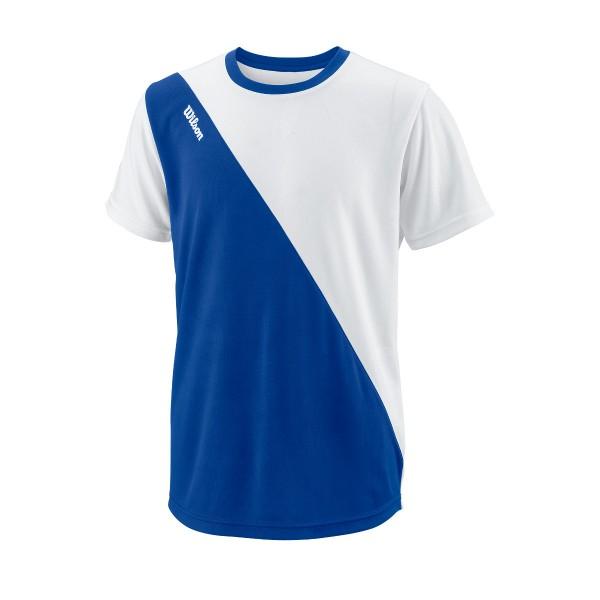 Wilson Team II Angle Crew blau Junior Shirt