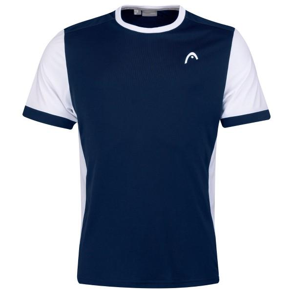 Head Davies Herren Shirt blau Tennisshirt