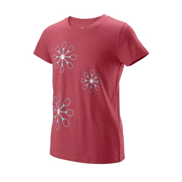 Wilson Floret Tech Tee Tennisshirt Girls rosa