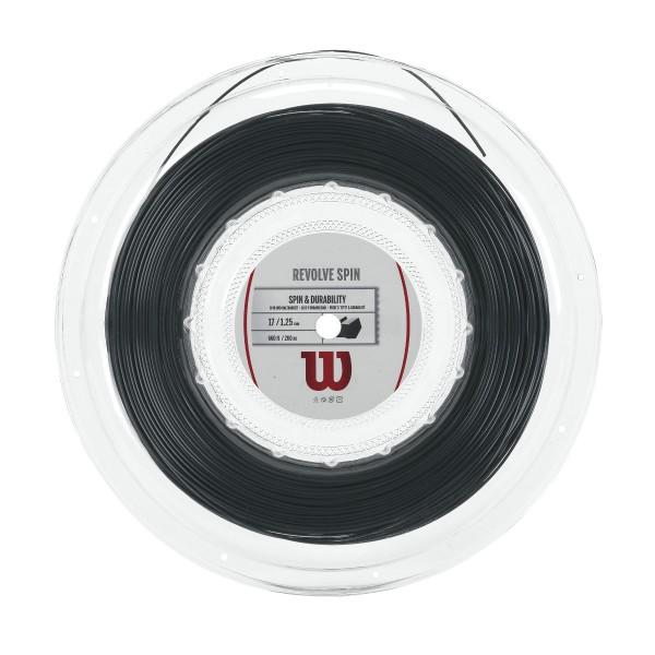 Wilson Revolve Spin Saitenrolle schwarz 200m