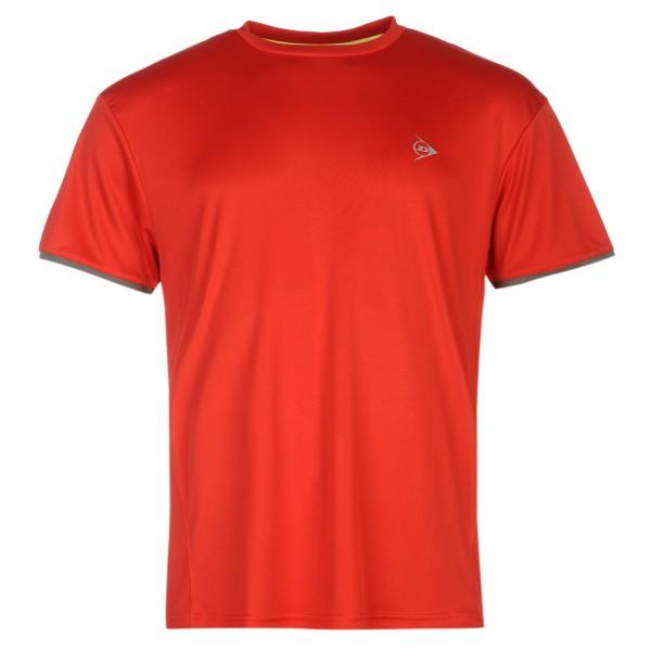 Dunlop Club MNS Crew Tee Herren Tennisshirt rot