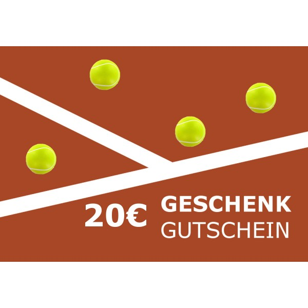 Tennis Heine 20€ Gutschein