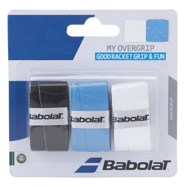 Babolat My Overgrip 3er schwarz/blau/weiß