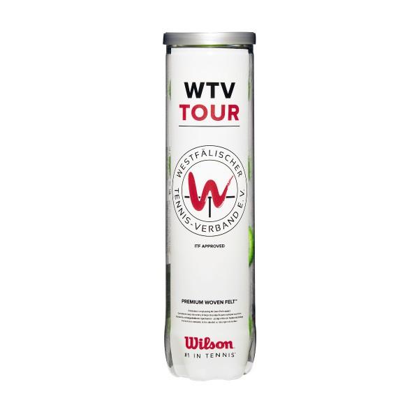 Wilson WTV Tour 4er Dose Tennisball