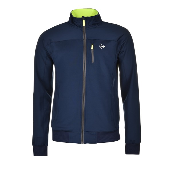 Dunlop Club MNS Knitted Trainingsjacke Herren blau