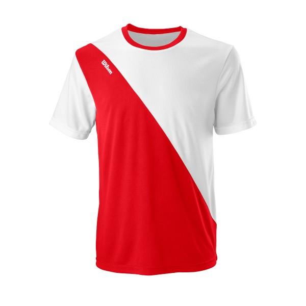 Wilson Team II Crew Tennisshirt Herren rot