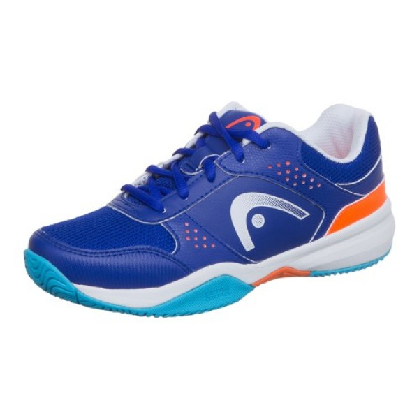 Head Lazer Jr. blau orange Tennisschuh