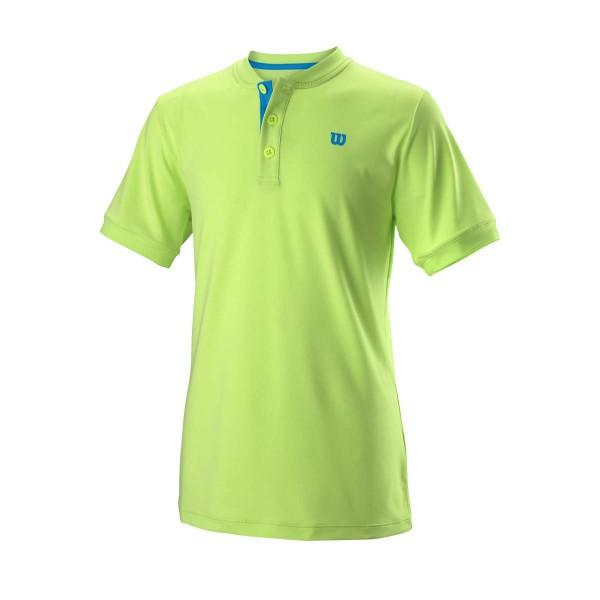 Wilson Henley Poloshirt Kids grün