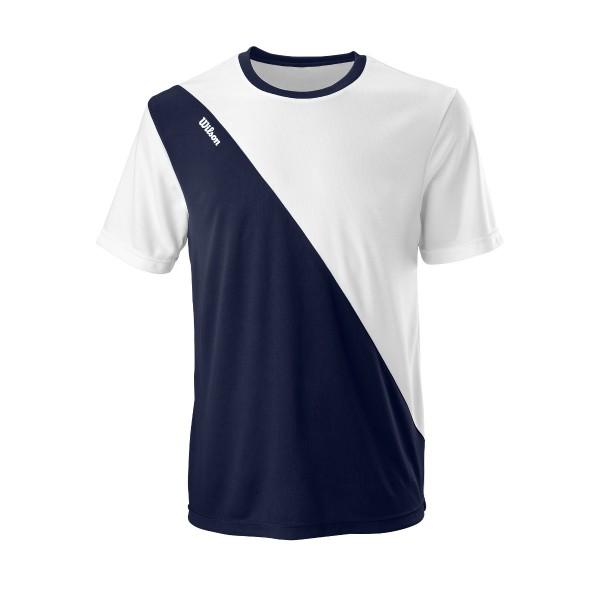 Wilson Team II Crew Herren Tennisshirt blau