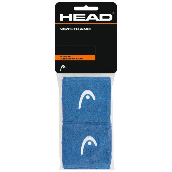 Head Wristband 2,5' Schweißband blau 2er
