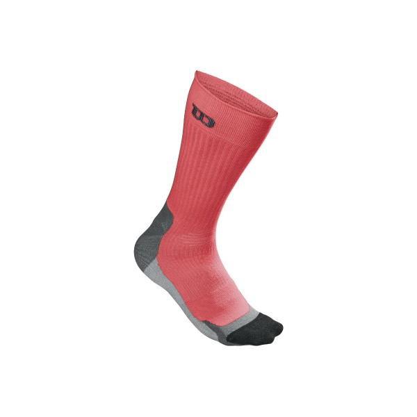 Wilson Herren High-End Crew Tennissocken Gr. 43-46 coral