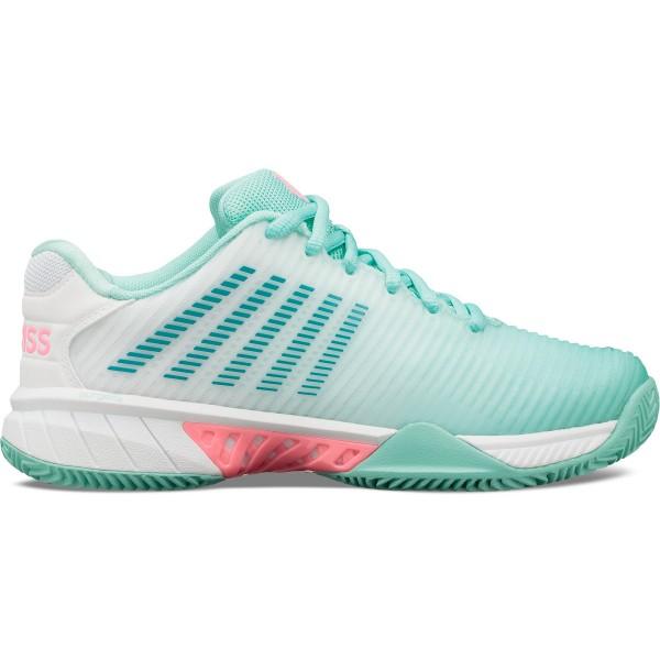 K-Swiss Hypercourt Express Damen blau pink Tennisschuhe