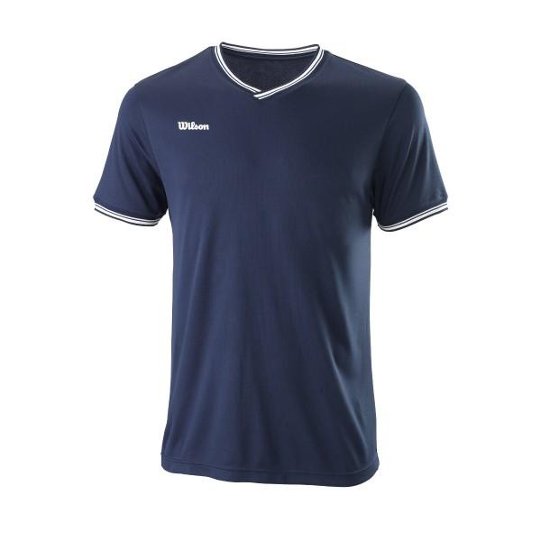 Wilson Team II V-Neck Tennisshirt Herren blau