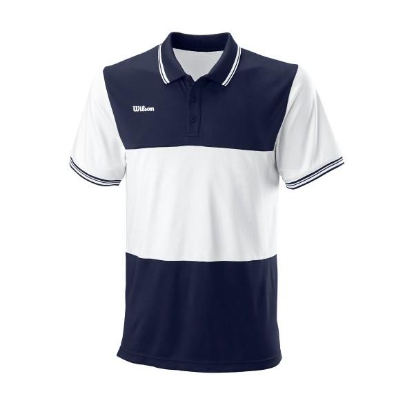 Wilson Team II Polo blau Herren Tennisshirt