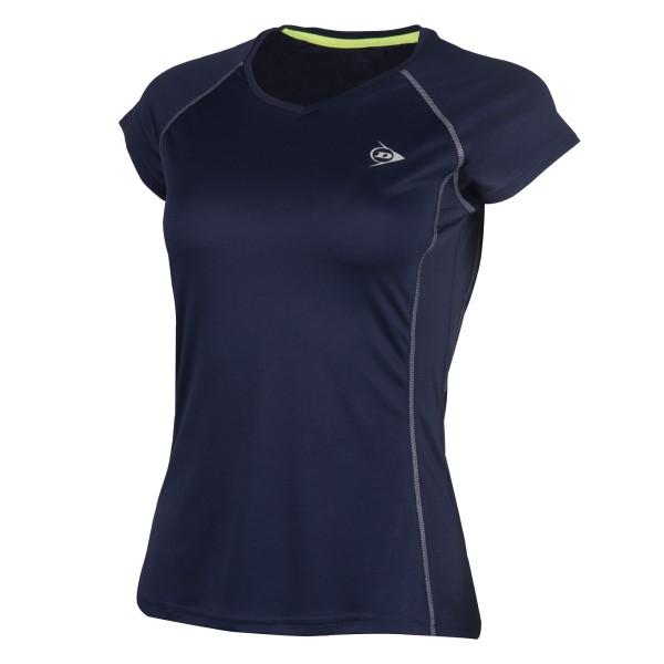 Dunlop Club Crew Tee Damen Tennisshirt blau