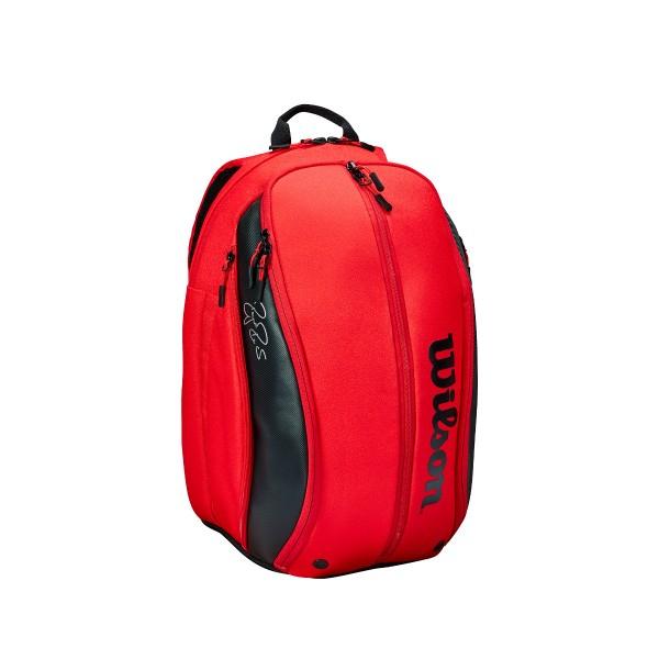 Wilson DNA Federer Backpack rot schwarz Tennisrucksack