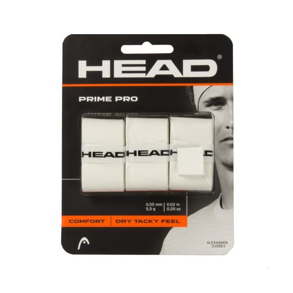 Head Prime Pro Overgrip 3er weiß Griffbänder