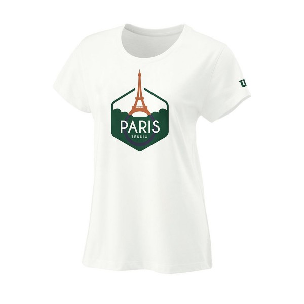 Wilson Paris Tech Tee Tennisshirt Damen weiß
