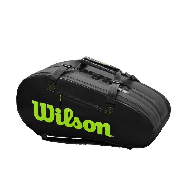 Wilson Super Tour 3 Comp schwarz grün Tennistasche