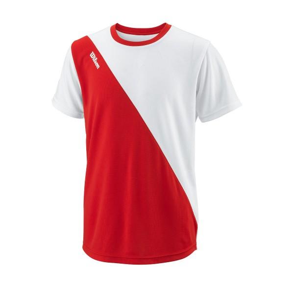 Wilson Team II Angle Crew Junior Tennisshirt rot