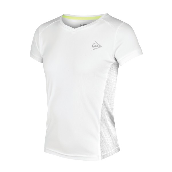 Dunlop Club Girls Crew Tee Weiß